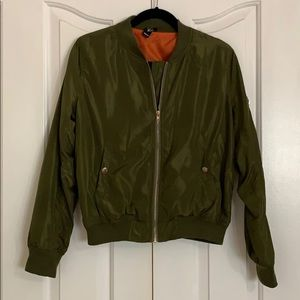 Army Green Windsor Bomber Jacket